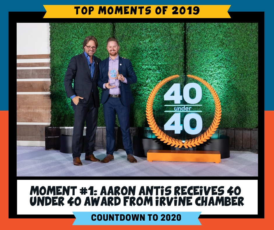 We're proud to congratulate Aaron on being among the forty young executives, business owners and community leaders acknowledged by Greater Irvine Chamber during their 40 Under 40.