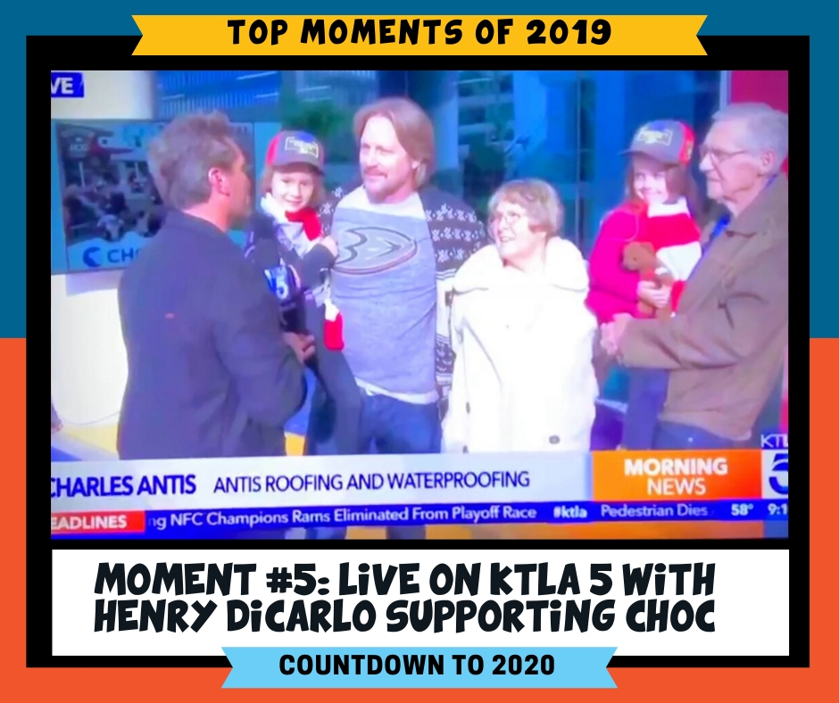 LIVE on KTLA 5 Morning News from the 25th Annual Toy Drive & Ride for CHOC Children's with Henry DiCarlo. It's an honor to support this organization because the Ronald Mcdonald Family Room CHOC helped our Founder & CEO, Charles Antis, when their family needed it the most.