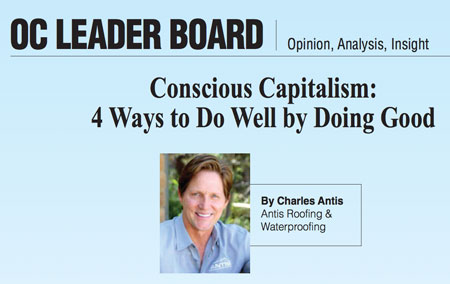 "Antis' Founder & CEO Featured in OCBJ's Leader Board – ""Doing Well By Doing Good"""