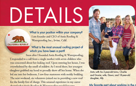 Check out our Founder & CEO, Charles Antis, featured in the NRCA's Professional Roofing Magazine!