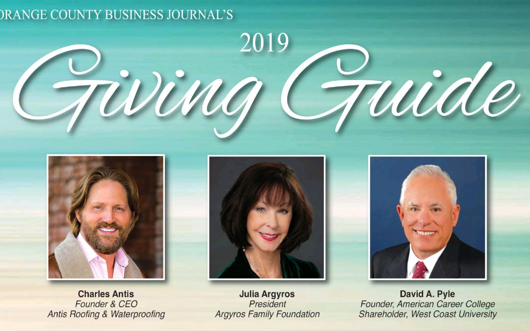 Orange County Business Journal's 2019 Giving Guide – Faces of Philanthropy